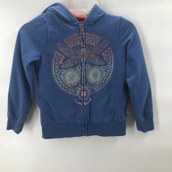 Lucky Brand Other - 🎪🎪Lucky Brand butterfly blue hooded sweatshirt